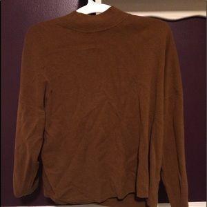 Loose mock neck sweater